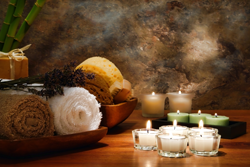 microdermabrasion is very relaxing - candles and towels